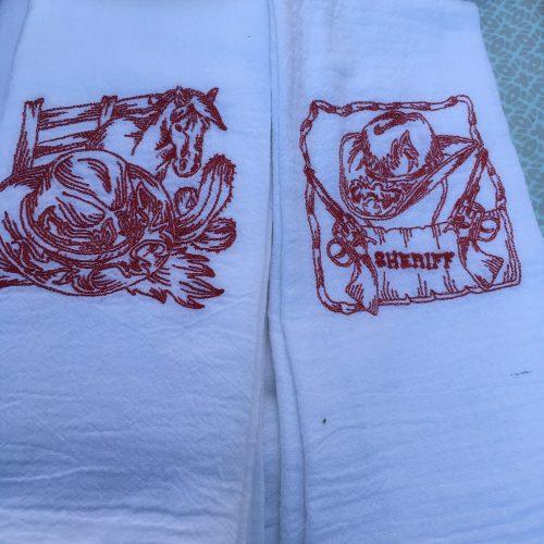 Wild West Flour Sack Towels